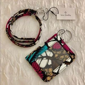 NWT Vera Bradley Lanyard and Campus Double ID set